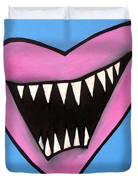 Zombie Heart Duvet Cover by Thomas Valentine