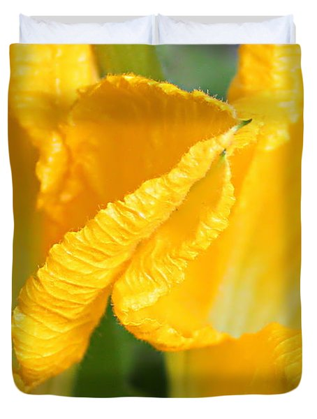 Zucchini Flowers In May Duvet Cover