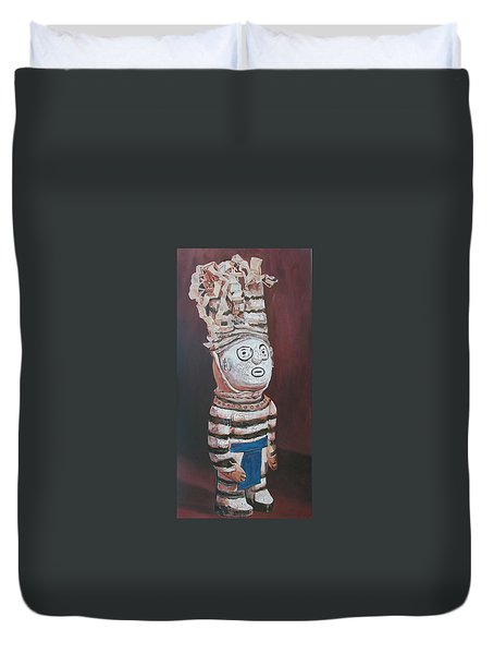 Zuni Clown Duvet Cover