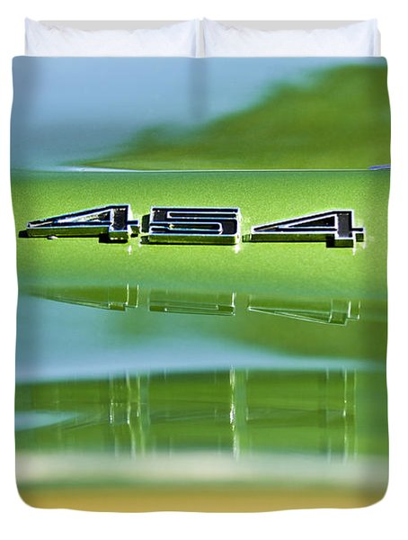 1972 Chevrolet Corvette Convertible 454 Emblem Duvet Cover
