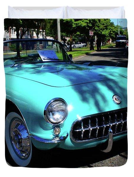 55 Corvette Duvet Cover