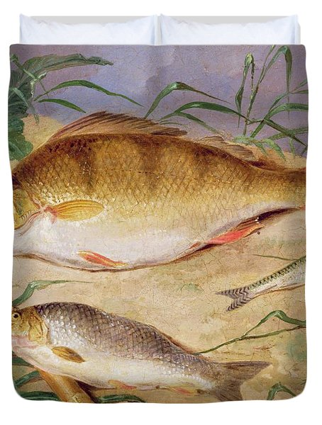 An Angler's Catch Of Coarse Fish Duvet Cover by D Wolstenholme