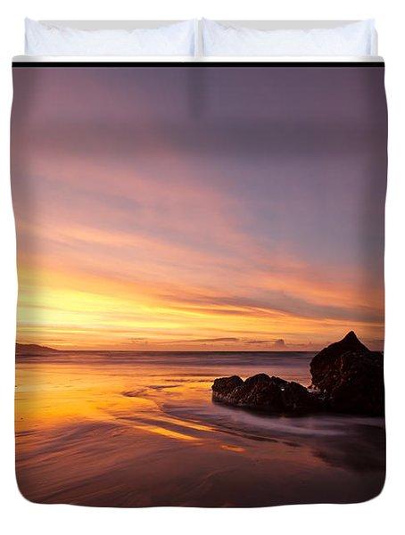 Atomic Sunset Duvet Cover