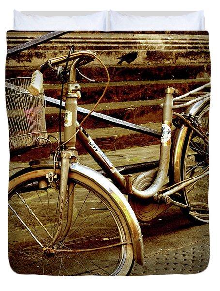 Bicycle Breakdown Duvet Cover