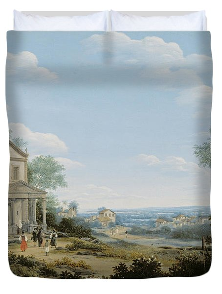 Brazilian Landscape Duvet Cover by Frans Jansz Post