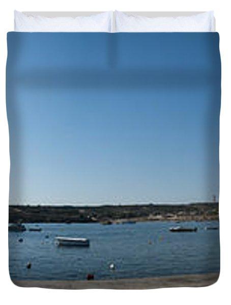 Bugibba Harbour Malta Duvet Cover by Guy Viner