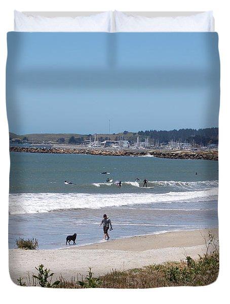 California Beach Duvet Cover by Carolyn Donnell