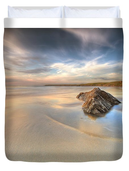 Dusk On The Beach Duvet Cover