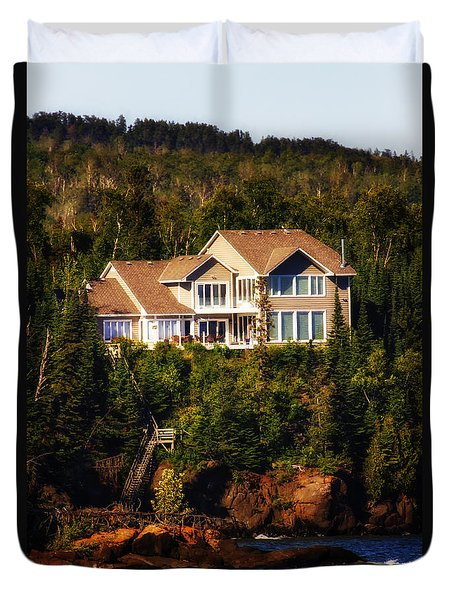 Grand Marais Beach Front Home Duvet Cover