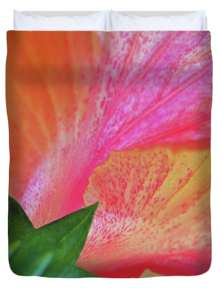 Hibiscus Duvet Cover by Kathy Yates