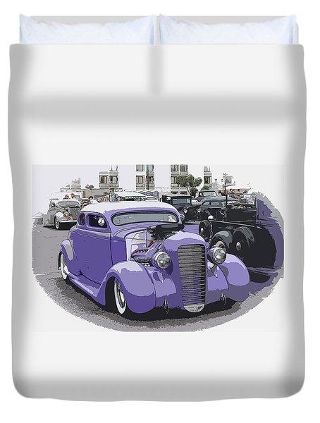 Hot Rod Purple Duvet Cover by Steve McKinzie