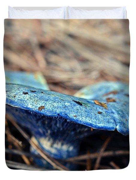 Indigo Milky Duvet Cover by Susan Leggett