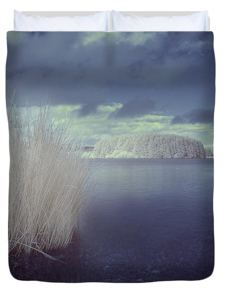 Infrared At Llyn Brenig Duvet Cover