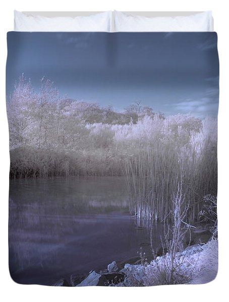 Infrared Pond Duvet Cover