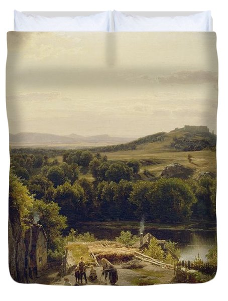 Landscape In The Harz Mountains Duvet Cover