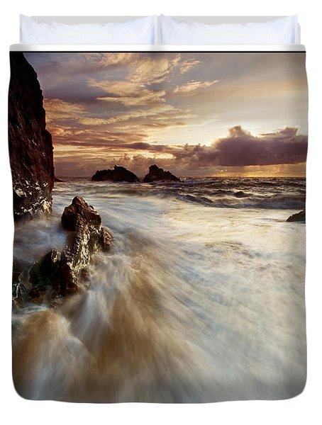 Llanddwyn Island Beach Duvet Cover