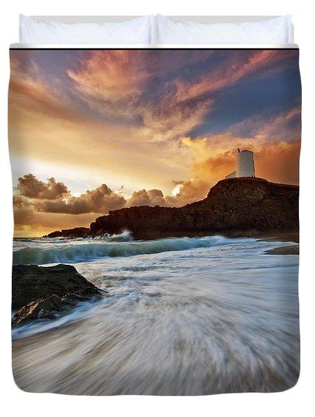 Llanddwyn Island Lighthouse Duvet Cover