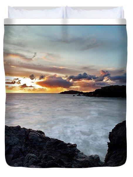 Llanddwyn Island Sunset Duvet Cover