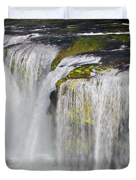 Lower Falls On The Upper Lewis River Duvet Cover