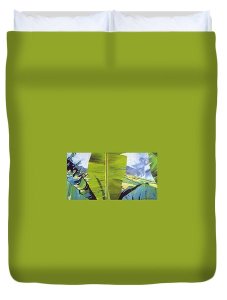 Maui Plantation Duvet Cover by Andrew Drozdowicz
