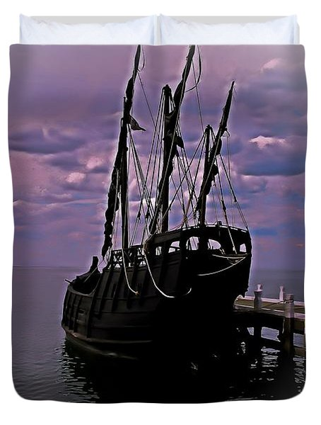 Notorious The Pirate Ship 5 Duvet Cover by Blair Stuart