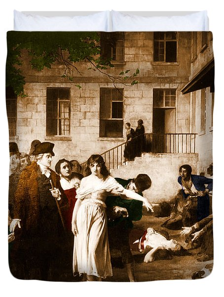Pitie-salpetriere Hospital, 1795 Duvet Cover by Photo Researchers