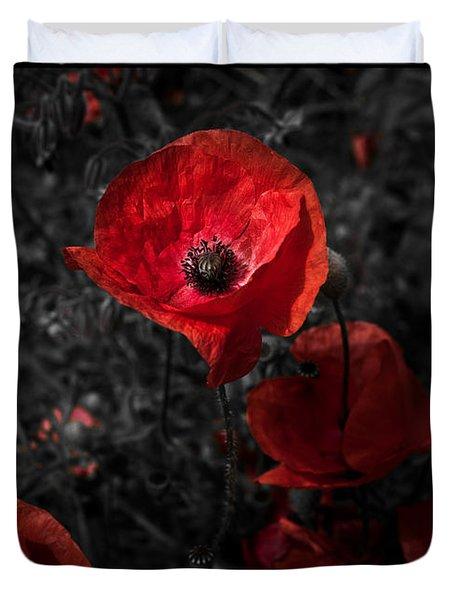 Poppy Red Duvet Cover
