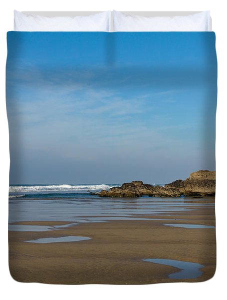 Porthtowan Cornwall Duvet Cover by Brian Roscorla