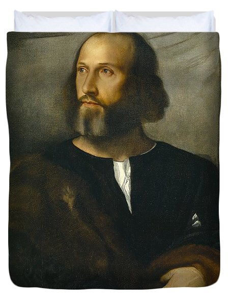 Portrait Of A Bearded Man Duvet Cover by Titian