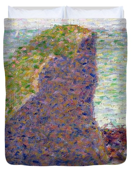 Study For Le Bec Du Hoc Duvet Cover by Georges Pierre Seurat
