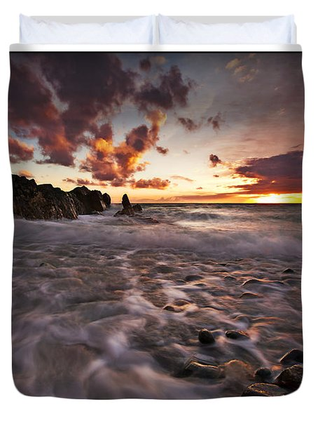 Sunset Tides - Porth Swtan Duvet Cover