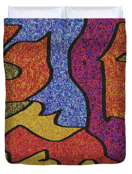 0664 Abstract Thought Duvet Cover by Chowdary V Arikatla