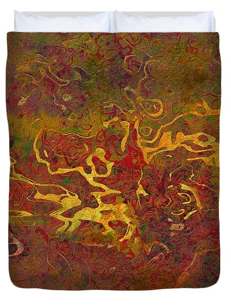 0694 Abstract Thought Duvet Cover by Chowdary V Arikatla