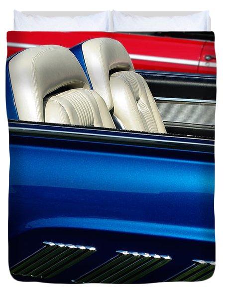 1963 Thunderbird Convertible Duvet Cover by Peter Piatt