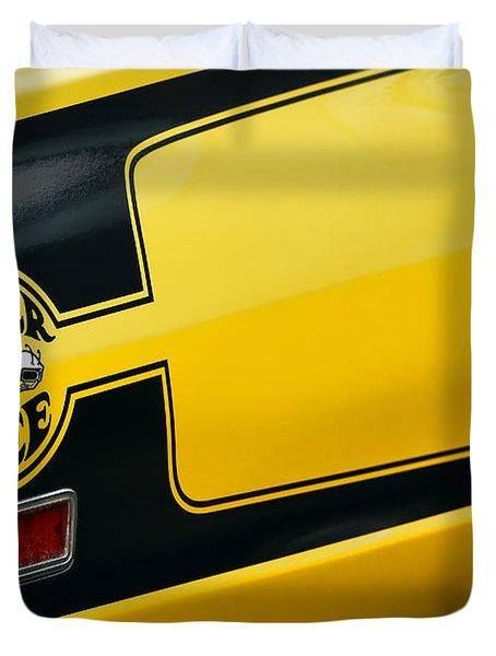 Duvet Cover featuring the photograph 1970 Dodge Coronet Super Bee by Gordon Dean II