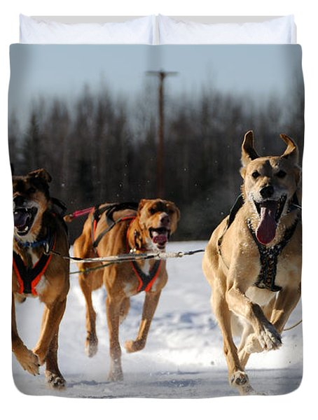 2011 Limited North American Sled Dog Race Duvet Cover by Gary Whitton