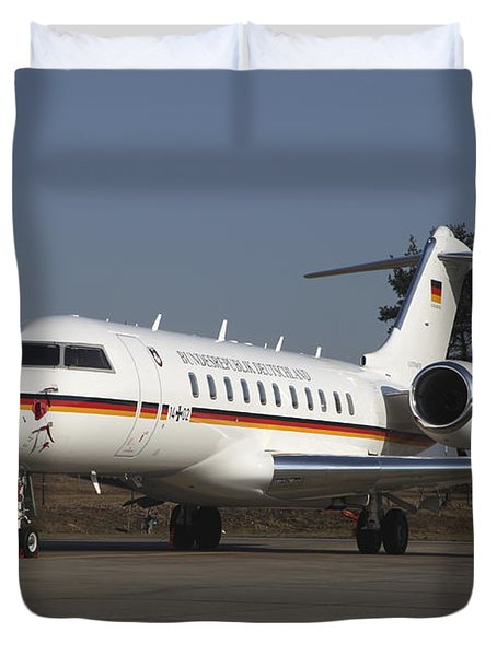 A Bombardier Global 5000 Vip Jet Duvet Cover by Timm Ziegenthaler