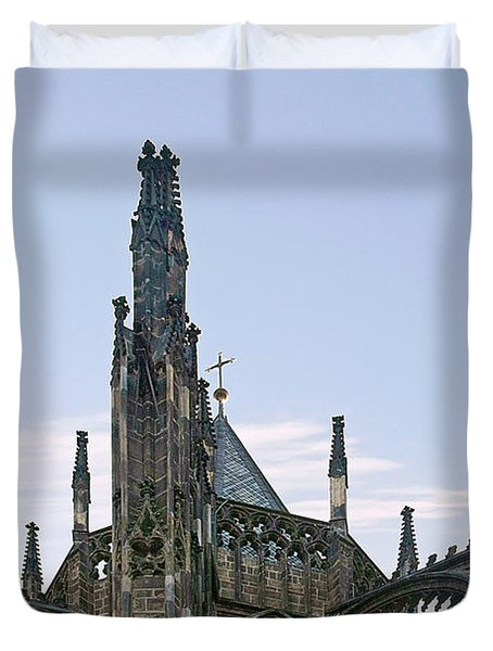 A Forest Of Spires - St Vitus Cathedral Prague Duvet Cover by Christine Till