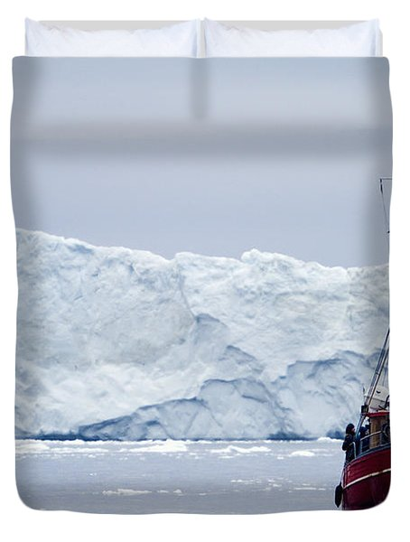 A Midnight Cruise Around The Ilulissat Duvet Cover by Axiom Photographic