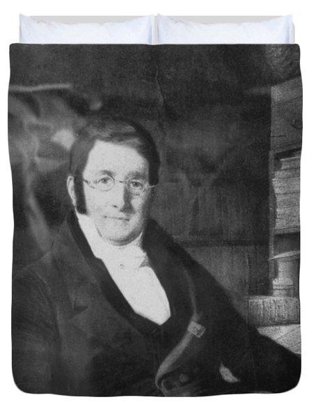 A. P. De Candolle, Swiss Botanist Duvet Cover by Science Source
