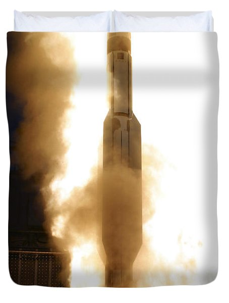A Standard Missile 3 Is Launched Duvet Cover