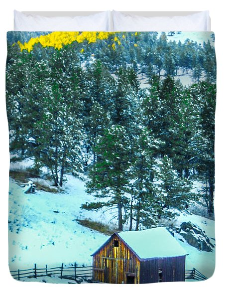 Abandoned Barn Lll Duvet Cover by Shannon Harrington