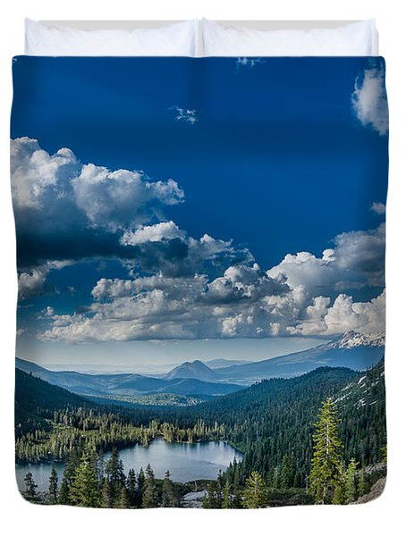 Above Castle Lake Duvet Cover