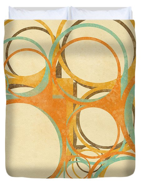 Abstract Circle Duvet Cover by Setsiri Silapasuwanchai