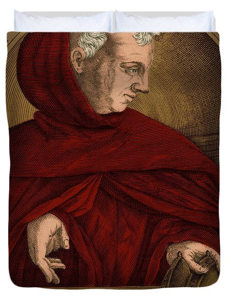 Albertus Magnus, Medieval Philosopher Duvet Cover by Science Source