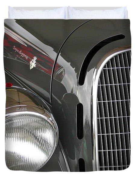 Duvet Cover featuring the photograph Alfa Romeo by Anna Ruzsan