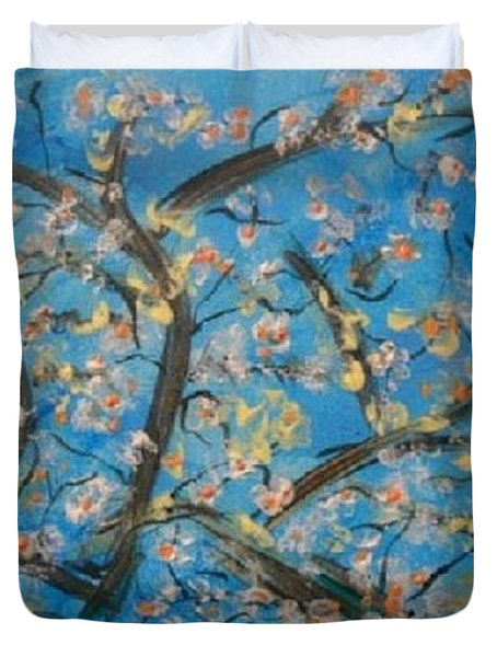 Almond Blossom  Duvet Cover by Kelly Turner