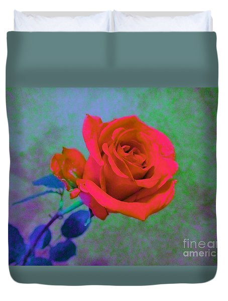 Duvet Cover featuring the photograph American Beauty - Red Rose by Susan Carella