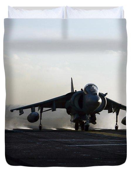 An Av-8b Harrier Jet Launches Duvet Cover