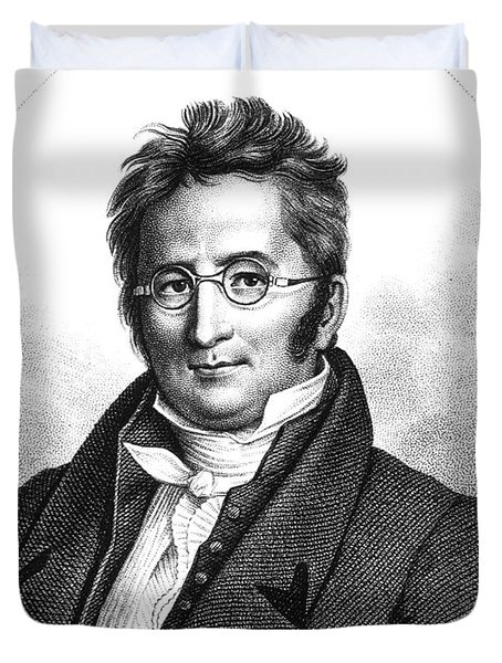 A.p. De Candolle, Swiss Botanist Duvet Cover by Science Source